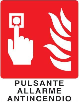 Cartello signum pulsante allarme antincendio in for Cartelli antincendio dwg
