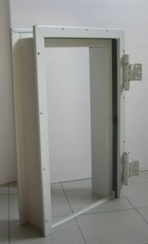 Telaio abbracciante per porte rei 120 a 1 2 ante da - Porte per pareti in cartongesso ...