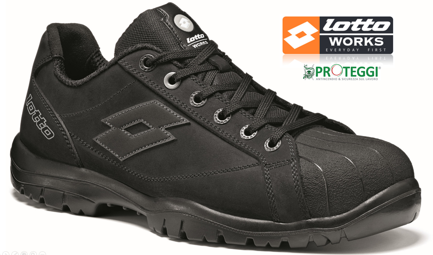 Scarpe antinfortunistiche Lotto Works JUMP 700 S3 SRC Nera